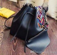 Wholesale womens cotton handbags - Fashion Brand Designer Classic Bag Women Famous Shoulder Bag Leather Canvas Strap Handbags Luxury Womens Female Bags with wallets