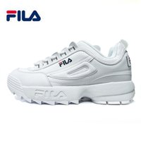 Wholesale big bottom - 2018 Fila II 2 running Shoes black white Grey Big sawtooth Thick bottom increased Man women Low Outdoor sports Sneakers 36-44