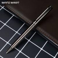stationäre clips großhandel-Metall-Kugelschreiber Rotating schwarz Clip Metall Luxus Kugelschreiber-Qualitäts-Schreiben Roller Büro Stationär