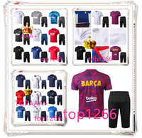 Wholesale men s summer suit - Real Madrid AC Brasil Summer Soccer Short Sleeve 7 Pants Tracksuits 18 19 RONALDO ASENSIO MODRIC Football Training Suit