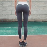 Wholesale Woolen Clothes Design - Sports leggings peach hips designs heart shape gym fast dry clothes hips push up leggings skinny pants girls workout fitness tight 2018