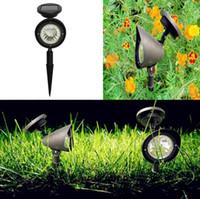 ingrosso luci spot spot-3 LED Solar Lawn Light Spotlight Outdoor Garden Paesaggio Prato Yard Path Spot Light Lampada GGA666 12 pezzi
