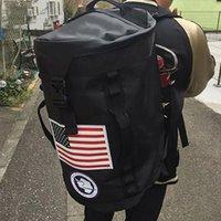 siyah kırmızı torba kızlar toptan satış-2018 Siyah Kırmızı Genç Sırt Çantası Erkek Kız 'Okul çantaları Rahat Geri paketi Yetişkin Öğrencilerin Seyahat Çantaları Su Geçirmez Büyük Kapasiteli 10 adet