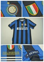 Wholesale classic details - sport jersey 2010-2011inter UCL final detail home retro jerseys STANKOVIC J.ZANETT MILITO CLASSIC jersey