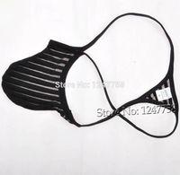 homens micro tanga corda g venda por atacado-Homens Sexy Penis Bolsa Tanga Cueca Transparente Micro Thong Masculino G-String T-Back Pant