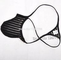Wholesale transparent penis pouch - Sexy Men Penis Pouch Tanga Underwear Transparent Micro Thong Male G-String T-Back Pant