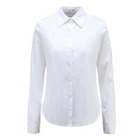 Wholesale wholesale white button down shirts - Moda Jihan New Women Blouses & Shirts Turn Down Collar Long Sleeve Female Shirts 100% Cotton Soft Clothing Female Tops Blusas