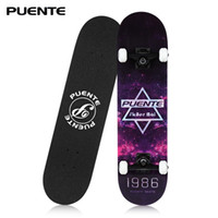 Wholesale skateboard decks for sale - PUENTE Four wheel Double Kick Deck Skateboard with T shape Gadget
