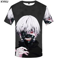 Wholesale sexy male japanese - Wholesale-KYKU Brand Tokyo Ghoul T Shirt 3d T-shirt Anime T-shirts Men T Shirts Funny Sexy Male Ghoul Clothing 2017 Japanese Mens Clothes