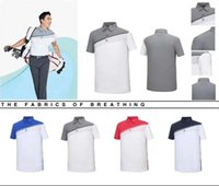 Wholesale Oem Soft - 2018 TI Golf T-shirt summer short sleeve dry fit assorted color soft smooth touching sports shirts 4 color OEM available