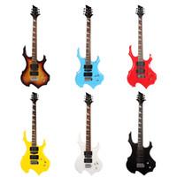 e-gitarren-set fest großhandel-E-Gitarre heterosexuelle Flamme E-Gitarre stieg Holz Griffbrett E-Gitarre Hersteller Großhandel Ahorn Holz zurück
