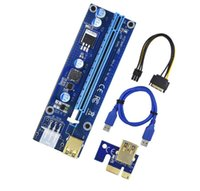 Wholesale extender 1x for sale - Group buy VER S PCI E X to X Riser Card Extender PCI Express pin sata Adapter USB Cable for BTC miner machine