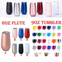 Wholesale tumbler cups wholesale - 6oz stainless steel tumblers Unicorn stemless 9oz wine glasses travel cup Insulated wine tumbler coffee Mugs lids egg cups Christmas gift