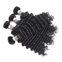 Wholesale 3pc brazilian remy hair for sale - Group buy 10a Deep Wave Hair Products Indian Deep Wave Human Hair Bundles quot quot Natural Color PC Remy Hair