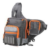 Wholesale waterproof lure online - 2018 Hot Sale Fishing Sling Bag Multi Purpose Waterproof Outdoor Waist Bags Fishing Reel Lure Bags Fishing Tackle