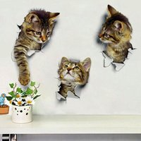 Cat Vivid 3D Smashed Switch Wall Sticker Bathroom Toilet Kicthen Decorative Decals Funny Animals Decor Poster PVC Mural Art  sc 1 st  DHgate.com & Funny Wall Art Decals NZ | Buy New Funny Wall Art Decals Online from ...