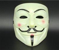 v için korkunç vendetta toptan satış-5 adet V Maske Vendetta Anonim Valentine Maskeli Maskeleri Topu Parti Dekorasyon Tam Yüz Cadılar Bayramı Süper Korkunç Parti Maskesi G290
