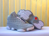 Wholesale gs for sale - Mens And Womens High Quality 13 GS Wolf Grey Basketball Shoes For Sale Wolf Grey White-Deadly Pink 13s