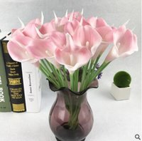 Wholesale display felt - Hot flower high-grade simulation feel Calla lily artificial flowers bouquet fragrant silk decoration GA72