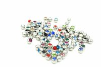 Wholesale classic lips for sale - Free Shippment Crystal Gems Ball Replacement Body Piercing Jewelry For Lip Eyebrow Tongue Navel Piercing