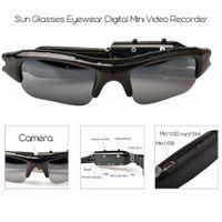 câmera dvr de óculos de sol venda por atacado-HD Mini Eyewear Óculos De Sol Da Câmera Gravador De Vídeo De Áudio Portátil Mini Esporte Câmera DVR DV Camcorder Hidden Bicicleta Skate Record Câmeras