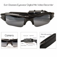 dvr video audio großhandel-HD Mini Eyewear Sonnenbrillen Kamera Tragbare Audio Video Recorder Mini Sport Kamera DVR DV Camcorder Versteckte Fahrrad Skate Record Kameras