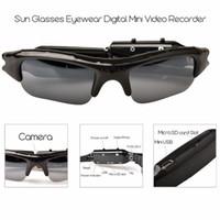 mini grabadora de cámara oculta al por mayor-HD Mini Gafas Gafas de sol Cámara Grabadora de video audio portátil Mini cámara de deporte DVR DV Videocámara Bicicleta oculta Skate Record Cameras
