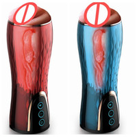 Wholesale rechargeable male masturbator for sale - Group buy XUANAI Rechargeable Automatic Telescopic Sucking Male Masturbator Sex Toys for Men Heating Realistic Pussy Vagina Sex Products