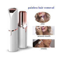 Wholesale Painless Hair Removal - Lipstick Facial Hair Removal Painless Face Hair Remover Electric Lipstick Epilator with retail package good quality
