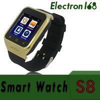 gps gsm wifi Canada - S8 Android 4.4 Smart Watch GSM Phone GPS MTK6572 Dual Core 512MB 4GB 2.0MP Camera SIM 3G WiFi Bluetooth 4.0 WCDMA 1.54 inch Smartwatch 20pcs