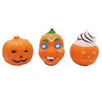 Wholesale pumpkin faces for sale - Group buy 3styles Pumpkin Ghost face squishy Jumbo Squeeze Toys PU Decompression Toy Novelty Items Halloween toy prop kids gift FFA1080