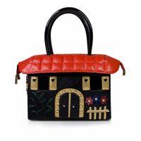 neuheit geldbörsen handtaschen groihandel-Frauen House Shaped Handtasche Einzigartige Umhängetasche Neuheit Einkaufstasche 3D Stickerei Luxus Geldbörse Crossbody Messenger Bags