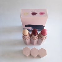 Wholesale good magnets - 3 Colors Beauty Concealer Rihanna Longwear Shimmer Skin Stick Starstruck Highlighter Power Concealer 3 in one good quality With the magnet