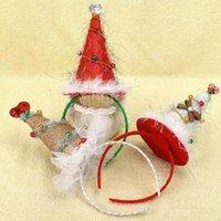 ingrosso decorazioni di bordi-2017 All'ingrosso Natale New Cipolla Bell Hat Hoop Grandi ornamenti Decorazione festiva Bambini acconciatura Copricapo Bella per i bambini