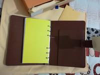 ingrosso scatole di libri in pelle-Spedizione gratuita Agenda di lusso Nota di marca Copertura in pelle diario in pelle con sacchetto di polvere e scatola di carta Nota libri stile di vendita calda anello d'argento
