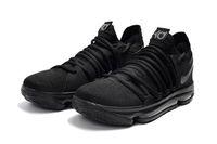 Wholesale Kd High Cut - High Quality KD 10 Triple Black Basketball Shoes