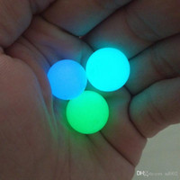 Wholesale decorative artificial stone resale online - Glowing Quartz Pearl Ball Belt Hole Luminous Balls Stone Artificial Rigs Insert Blue Green Round Bead Eco Friendly Polishing st3 jj