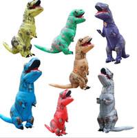 aufblasbarer junge großhandel-Kinder-T-REX Aufblasbares Kostüm Weihnachten Cosplay Dinosaurier Tier Jumpsuit Halloween-Kostüm für Junge Mädchen freies Verschiffen