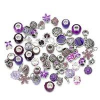 pulseras de cuentas de moda mixta al por mayor-Estilo de la mezcla de moda gran agujero granos flojos encanto para pandora bricolaje pulsera de la joyería para el europeo pulseranecklace