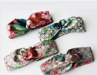 Wholesale women hair band silk - Designer 100% Silk Cross Headband Fashion Luxury Brand Elastic Hair bands For Women Girl Retro Floral Bird Turban Headwraps Gifts