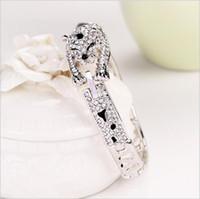 österreich bangle großhandel-Designer Schmuck Armbänder für Frauen Österreich Kristall Armbänder Leoparden Armreifen einfache heiße Mode versandkostenfrei