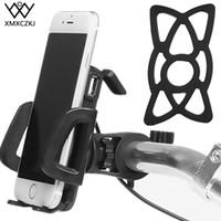 зарядное устройство для велосипеда оптовых-XMXCZKJ электрический велосипед ATV мотоцикл Держатель телефона с USB зарядное устройство для Iphone X, 8Plus мотоцикл руль зарядное устройство держатель C18110801
