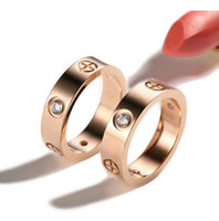 кольца брендов  оптовых-New 316L Titanium Steel carter Love Rings Women Men Couples Anel CZ Wedding Ring Brands Logo name Pulseira feminina jewelry