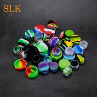Wholesale food storage online - Dry herb tray silicone wax dab containers stash dab tool honey jars ml ml ml concentrate box oil storage container mini