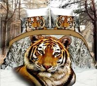 3d bedding set venda por atacado-Venda quente 3D Animal Pegasus Tigre Buerfly Rose Conjunto de Cama King Size Capa de Edredão Folha de Cama Fronha Home Decor Motocicleta