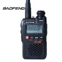 Wholesale free vhf radio for sale - Group buy Walkie Talkie BaoFeng UV R Dual Band MINI Two Way Radio amador UV3R CH UHF VHF FM VOX Pofung UV R free headset