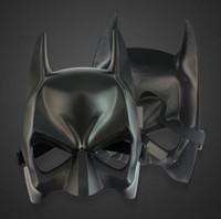 yetişkinler için siyah yarı maskeler toptan satış-2018 sıcak satış Siyah Yarım yüz Batman Maskeleri Cadılar Bayramı Masquerade Parti Yüz Maskesi (Bir Boyut) Için Fit Çocuk ve Yetişkin