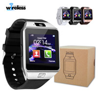 Wholesale cellphone camera tf online – Smart Watch DZ09 Smart Wristband SIM Intelligent Android Sport Watch for Android Cellphones relógio inteligente support TF SIM card vs q18