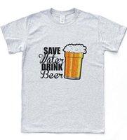 bira şapkasını iç toptan satış-Kaydetmek Su Içecek Bira Komik T-shirt Delikanlı Pisshead Baba Baba Günü En Yenilik Tee suit şapka pembe t-shirt