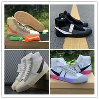 san francisco 570d3 97753 marke schwarze basketballschuhe großhandel-2018 neueste Marke Blazer Mitte  Sensenmann schwarz Männer Basketball Schuhe alle